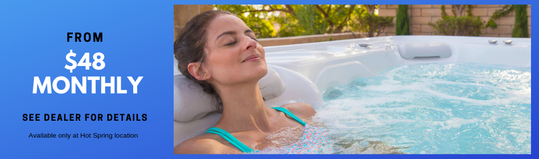 Carefree Spas Name Brand Hot Tubs as low as $48 monthly