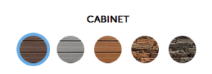 HotSpring Cabinet Colors